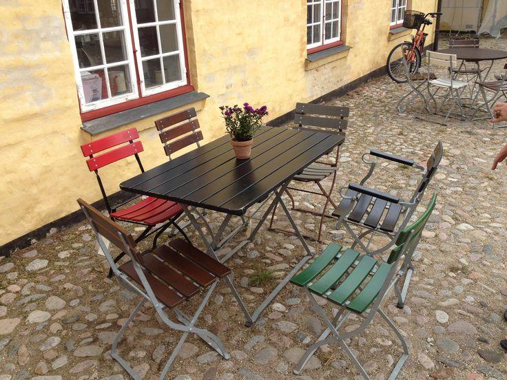 Havemøbler#havebord#cafe bord#cafe stol#asketræ