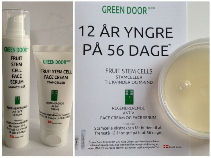 12 år yngre på 56 dage med Fruit stem cell Face serum  fra Green Door
