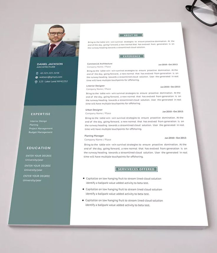 Corporate cv template ai eps well organized layer