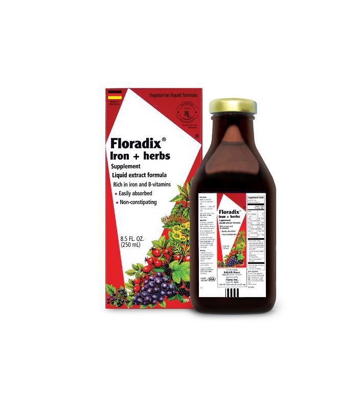 Floradix Liquid Iron Formula Pure Leaf Tea Bottle Tea Bottle Liquid Extract