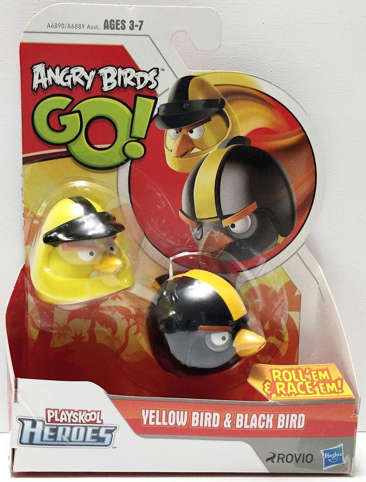 (TAS033681) - 2013 Rovio Angry Birds Go! Action Toys - Yellow Bird & Black Bird