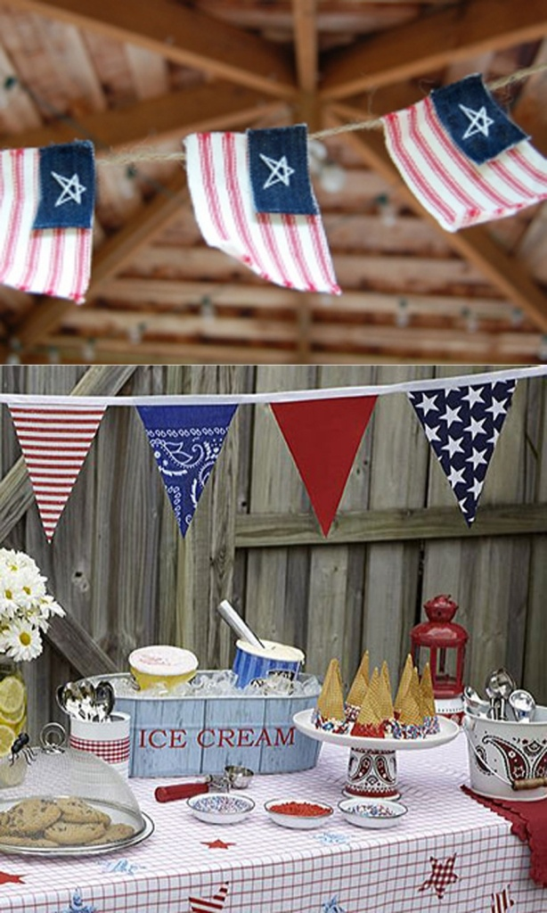 4th of july bannerIce Cream Parties, Fourth Of July, July Crafts, Summer Bbq, 4Th Of July, Parties Ideas, Ice Cream Bars, Icecream, Banners