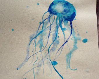 MADE TO ORDER Jellyfish Watercolor Painting Original By Renée