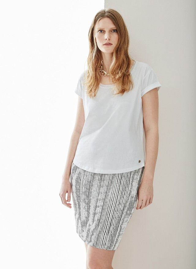 Falda de crinkle Black & White