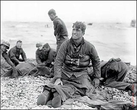 D-Day Landing at Normandy Beach  1944  by Walter Rosenblum   -  My Daddy and uncle were there but would never talk about it because it was so hellish.
