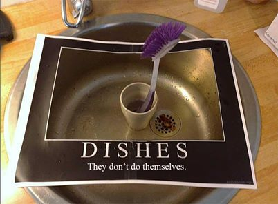 Dishes may not do themselves, but that is why they invented dishwashers. Have a fabulous Sunday everybody. #sundayfun #lightersidephoto #jokes