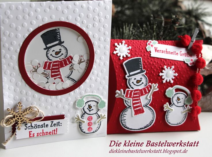 stampin up sch ttelkarte schneemann schneem nner weihnachten winter es schneit karte gru karte. Black Bedroom Furniture Sets. Home Design Ideas