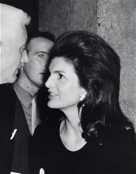 Jackie Kennedy Onassis and Oliver Smith during 'Giselle' New York City Premiere at Alice Tulley Hall in New York City, New York, United States.