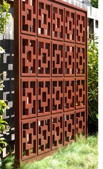 Perfect mid-century modern privacy screen -  good for outside new big bathroom window www.midcenturymodernremodel.com