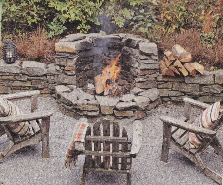 Built in corner fire pit 2611 diamond spur pinterest for Built in fire pits designs