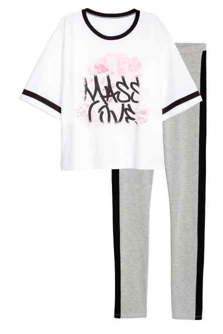 Pijama cu bluză și colanți