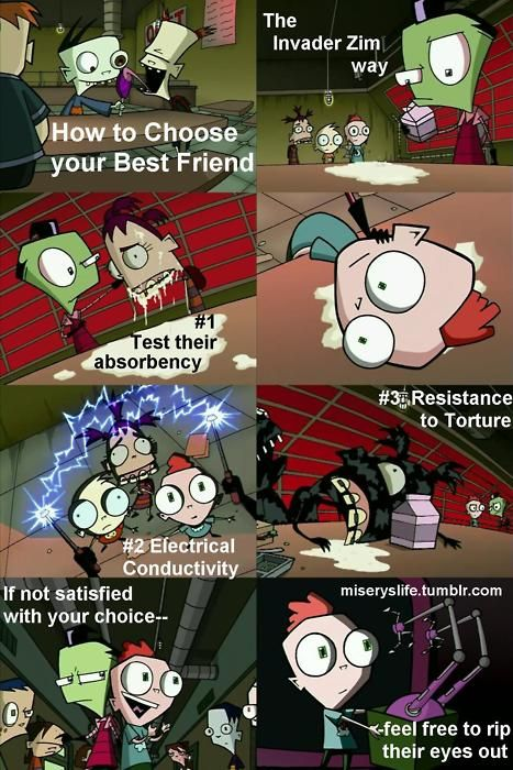 finding friends:the invader zim way