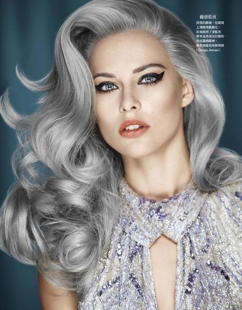 shiny spectacular grey hair