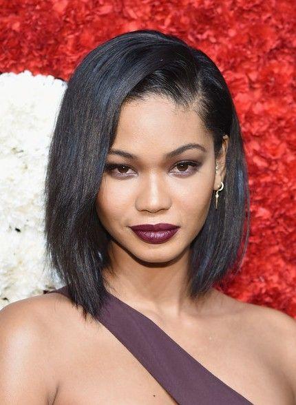Chanel Iman Asymmetrical Bob Haircut for Black Women