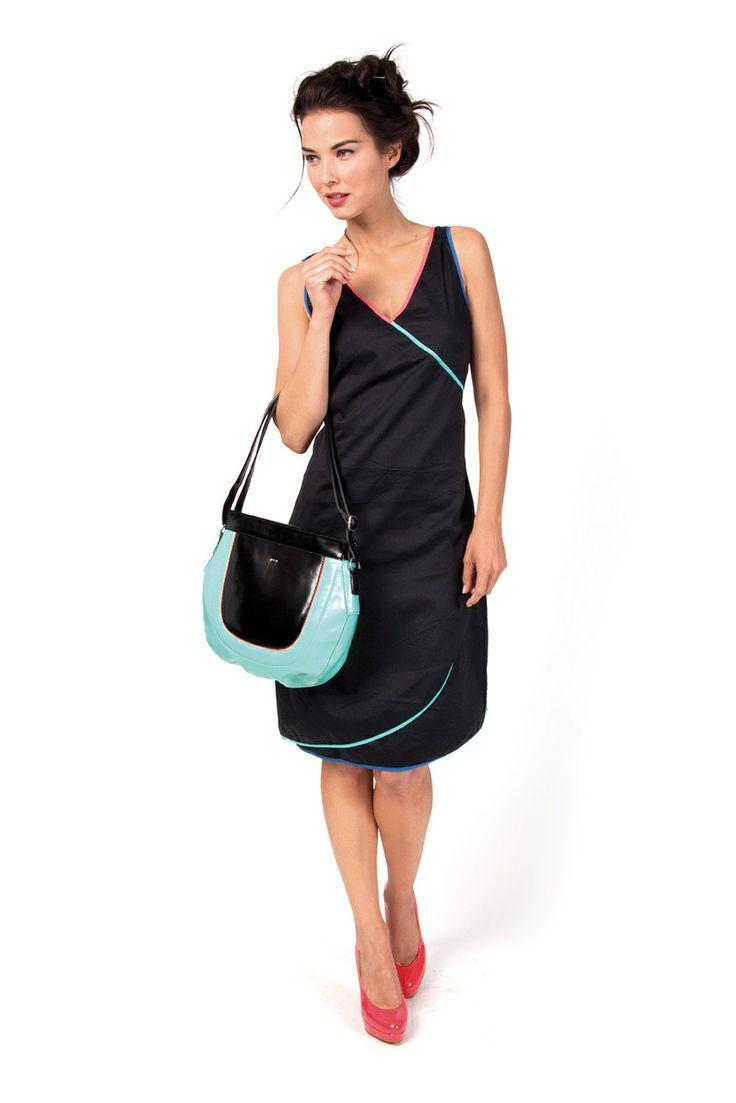 FLORENTZI-077 SKUNKFUNK women's dress fabric content: 68% organic cotton + 29% nylon + 3% elastane color: black price: $145.00