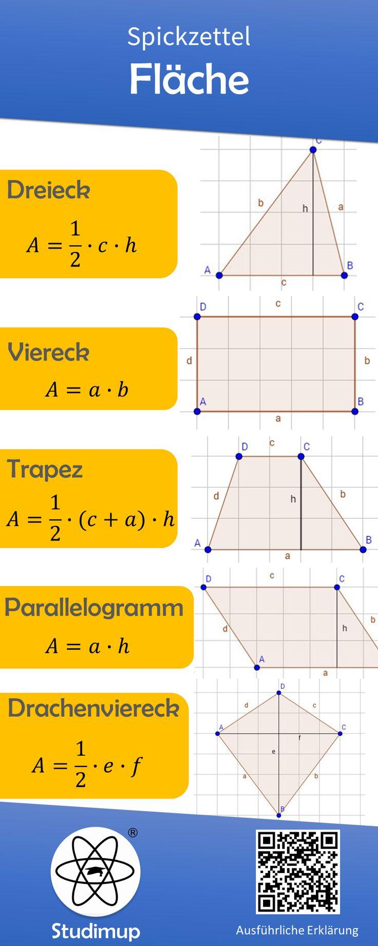 Fläche berechnen Spickzettel – Viola