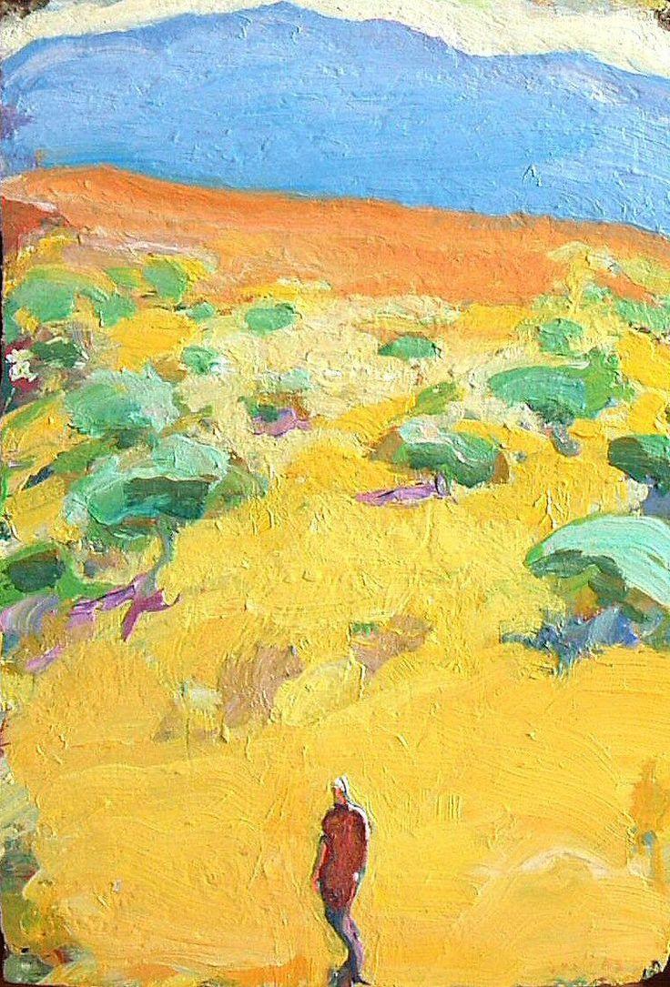 Tuomo Saali, Vanderer of Light, oil on canvas 2007
