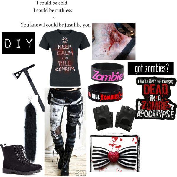 """""""Halloween DiY: Zombie Hunter"""" by brookiecookiiiie on Polyvore"""