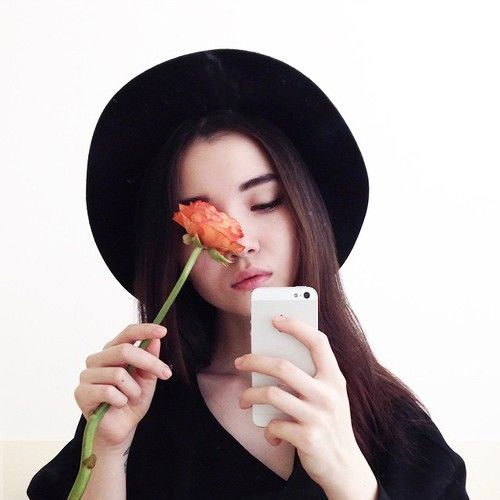 black, fashion, and flower image