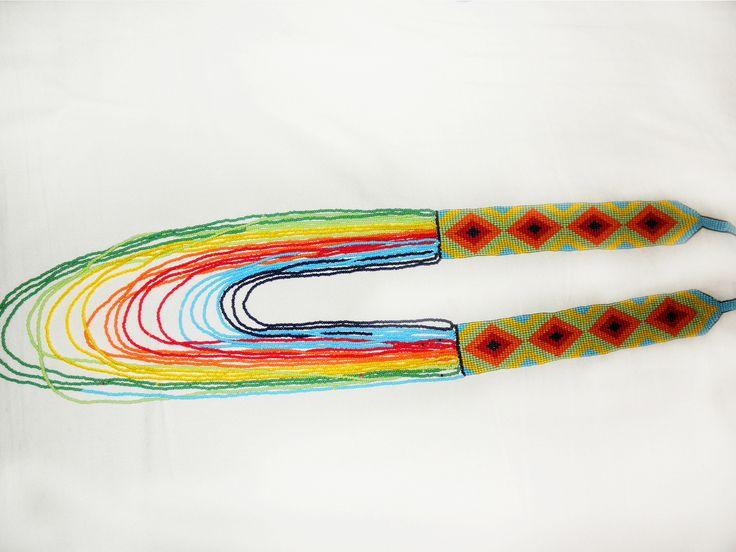 Collar Embera Rombo Con Tirantes. — EmberArt