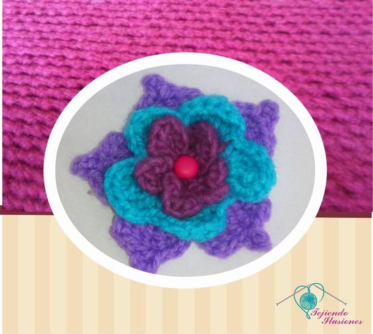 Modelo n 52 broche para el cabello modelo azucena triple - Diademas a crochet ...