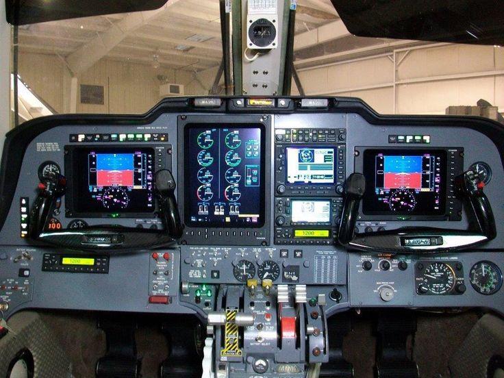 Mitsubishi mu2 - Glass cockpit