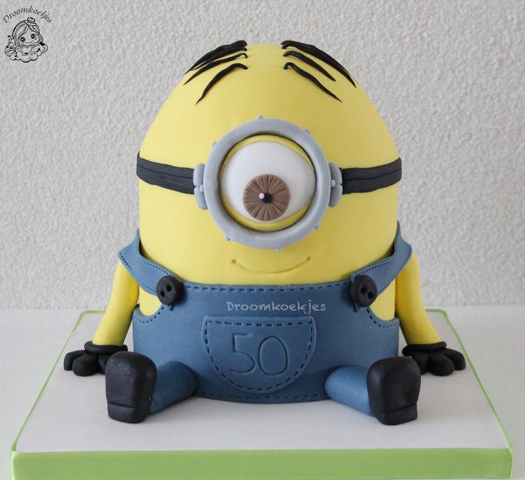 Minion birthday cake / Minion verjaardagstaart door Droomkoekjes