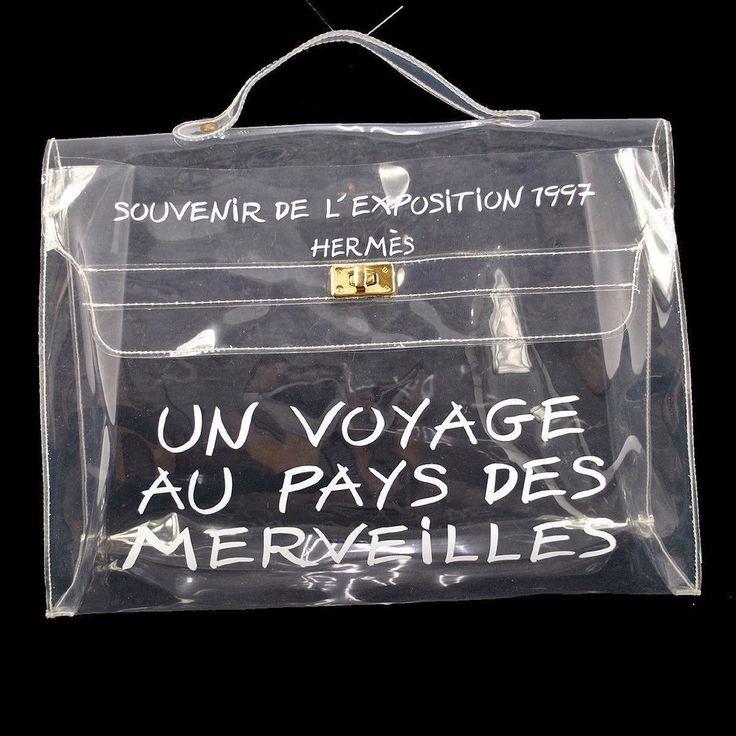 HERMES Souvenir De L\u0026#39;Exposition 1997 Vintage Kelly Handbag Clear ...