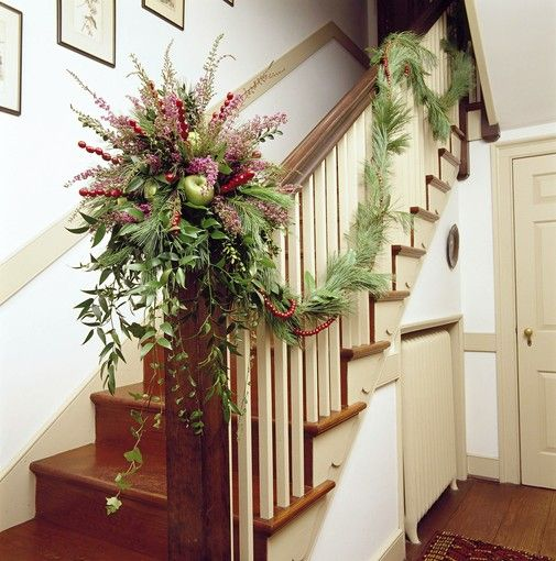17 Best Images About Mantle Staircase Garland Decor On
