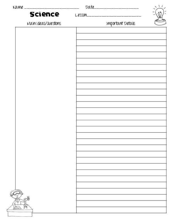 114 best Note taking images on Pinterest Cornell notes, Cornell - notebook paper template for word