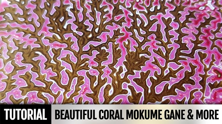 How to make Coral Mokume Gane & Coral polymer clay Scraps utilization. N...