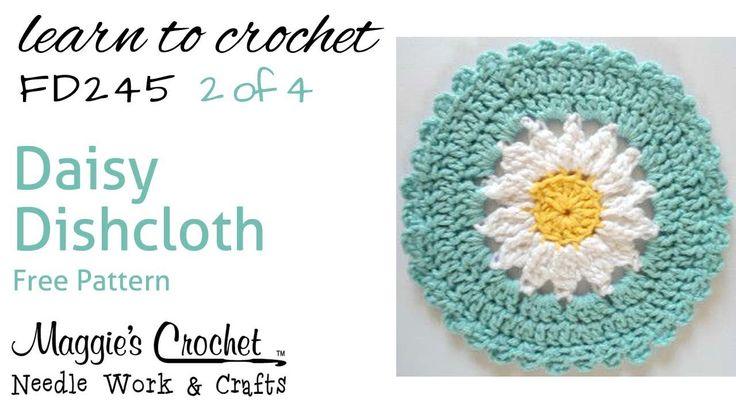 Daisy Dishcloth Part 2 of 4 Right Hand Free Crochet Pattern FD245