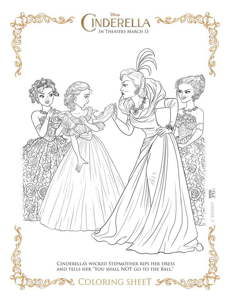My Take On Cinderella Free Coloring SheetsDisney