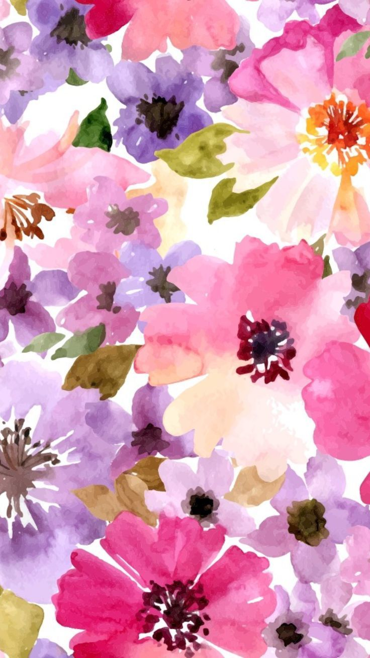 14 Aesthetic Yellow And Blue Pastel Flower Wallpaper Flower Backgrounds Floral Watercolor