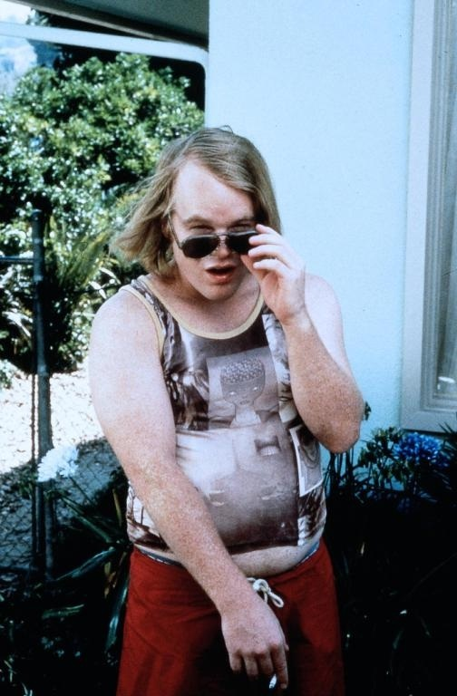 Philip Seymour Hoffman in Paul Thomas Anderson's Boogie Nights (1997).