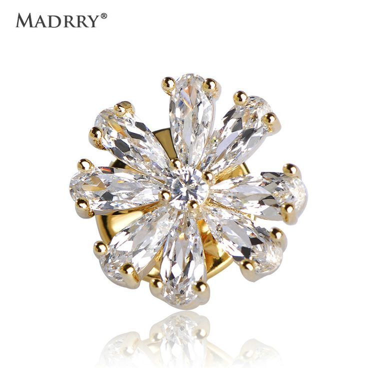 Aliexpress.com : Buy Madrry Sparkling Crystal Brooches For Women Kids Collar Clips Cubic Zirconia Copper Broches Dress Scarf Decoration Fashion Joyas from Reliable crystal brooch suppliers on Madrry Official Store