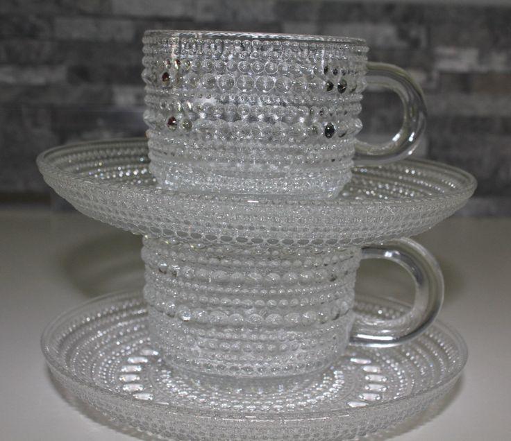 """Original Nuutajävi design """"Kastehelmi"""" """"Dew drop"""" two coffee cups by FinnishTreasures on Etsy https://www.etsy.com/listing/203366653/original-nuutajavi-design-kastehelmi-dew"""