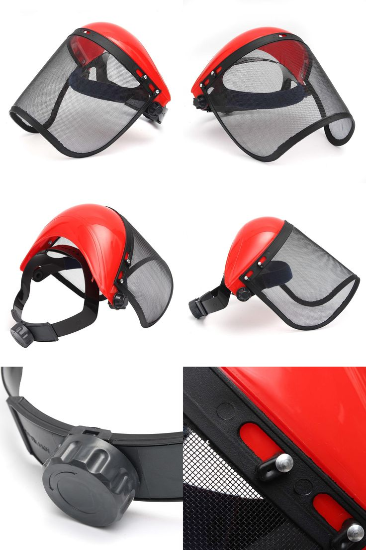 [Visit to Buy] Clear + Mesh Full Visor Flip Up Face Shield Screen Safety Mask Eye Protector Protective Mask Workwear #Advertisement