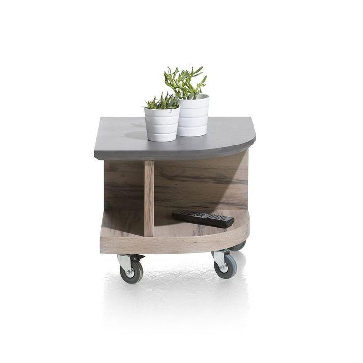 Eivissa hoektafel met marble beton top van het merk Henders&Hazel koop je zonder verzendosten en snel bij deleukstemeubels.nl | Deleukstemeubels.nl