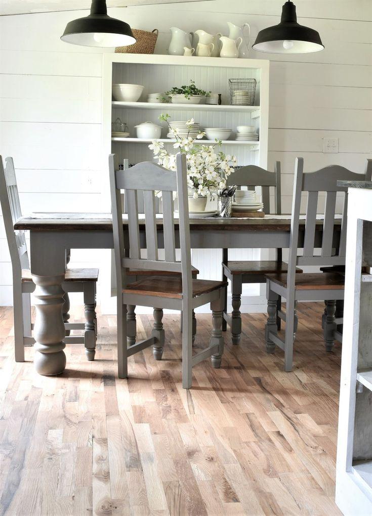 Best 25 Painted Farmhouse Table Ideas On Pinterest