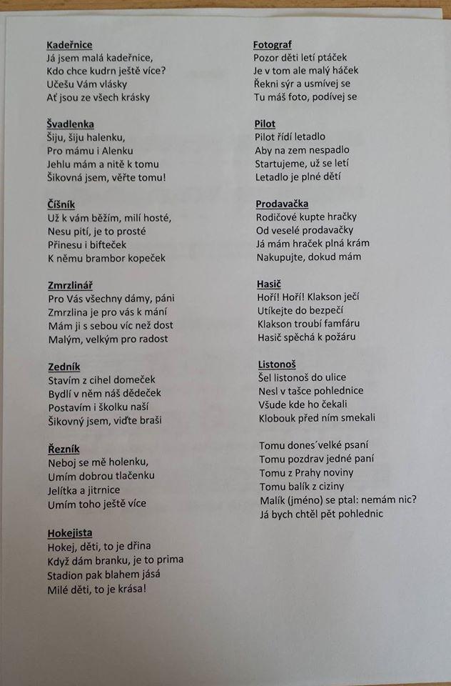 básničky na povolání