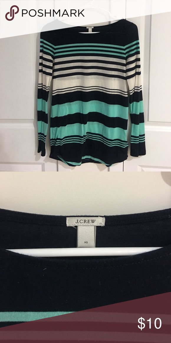 Long Sleeve J Crew shirt XS J Crew shirt. Light material - snug fit up top & flows out for a looser fit at the bottom. J. Crew Tops Tees - Long Sleeve