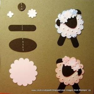Punch Art Lambs by karen.x