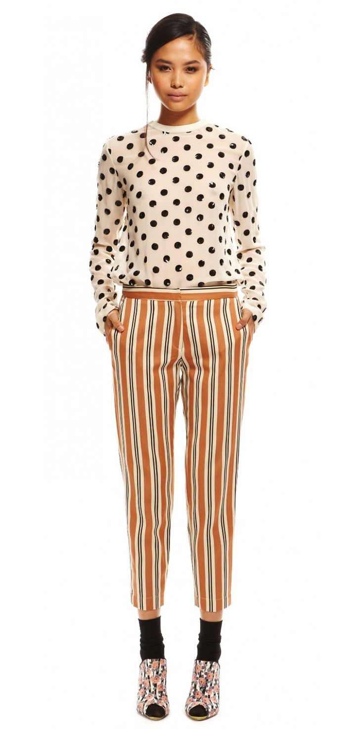 Suno // tailored trouser // stripes and spots
