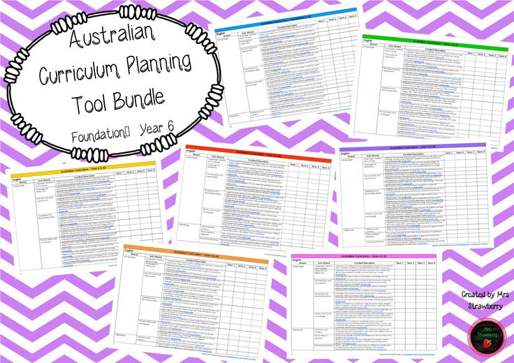 #B2SwithDBT Thisbundle includes7 Australian Curriculum Planning Tools for Foundation (Pre-Primary) toYear 6. This planning tool has been created to make planning easier forPrimary School teachers! Simply tick off or make a short note as each outcome is covered – you can then easily identify any gaps. These documents include all Australian Curriculum outcomes (English, Mathematics, …