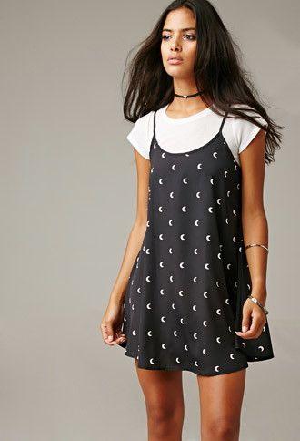 Gypsy Warrior Many Moons Mini Dress | Forever 21 - 2000179631