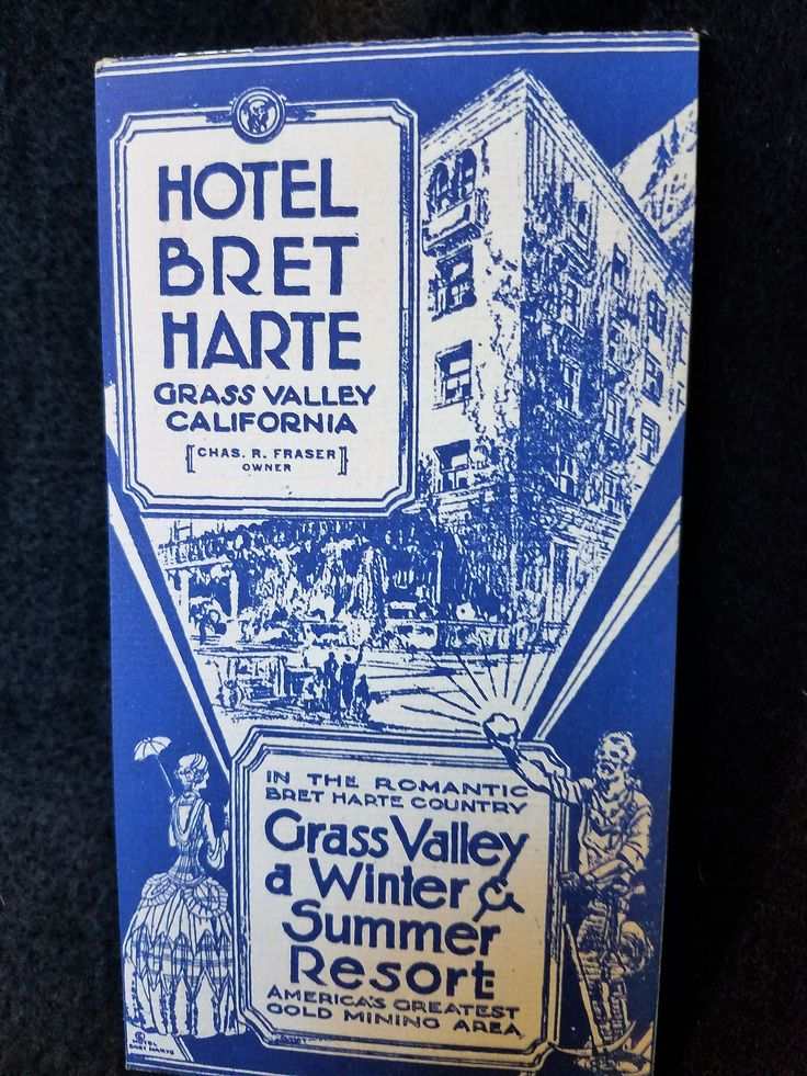 Hotel/Bret Harte/Grass ValleyCalifornia/Gold Mining by MermaidMemoirs on Etsy