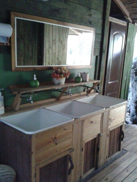 Decoracion Baño Rustico:Baño rústico