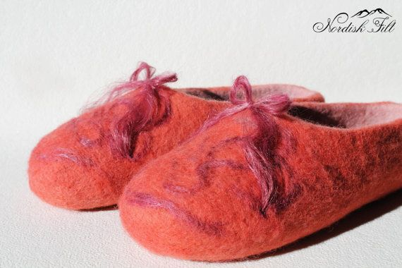 Felted wool slippers-Home shoes-made to by NordiskFilt on Etsy