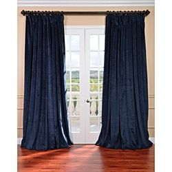 Shop for Exclusive Fabrics Midnight Blue Velvet Blackout Extra Wide Curtain Panel and more for everyday discount prices at Overstock.com - Your Online Home Decor Store!